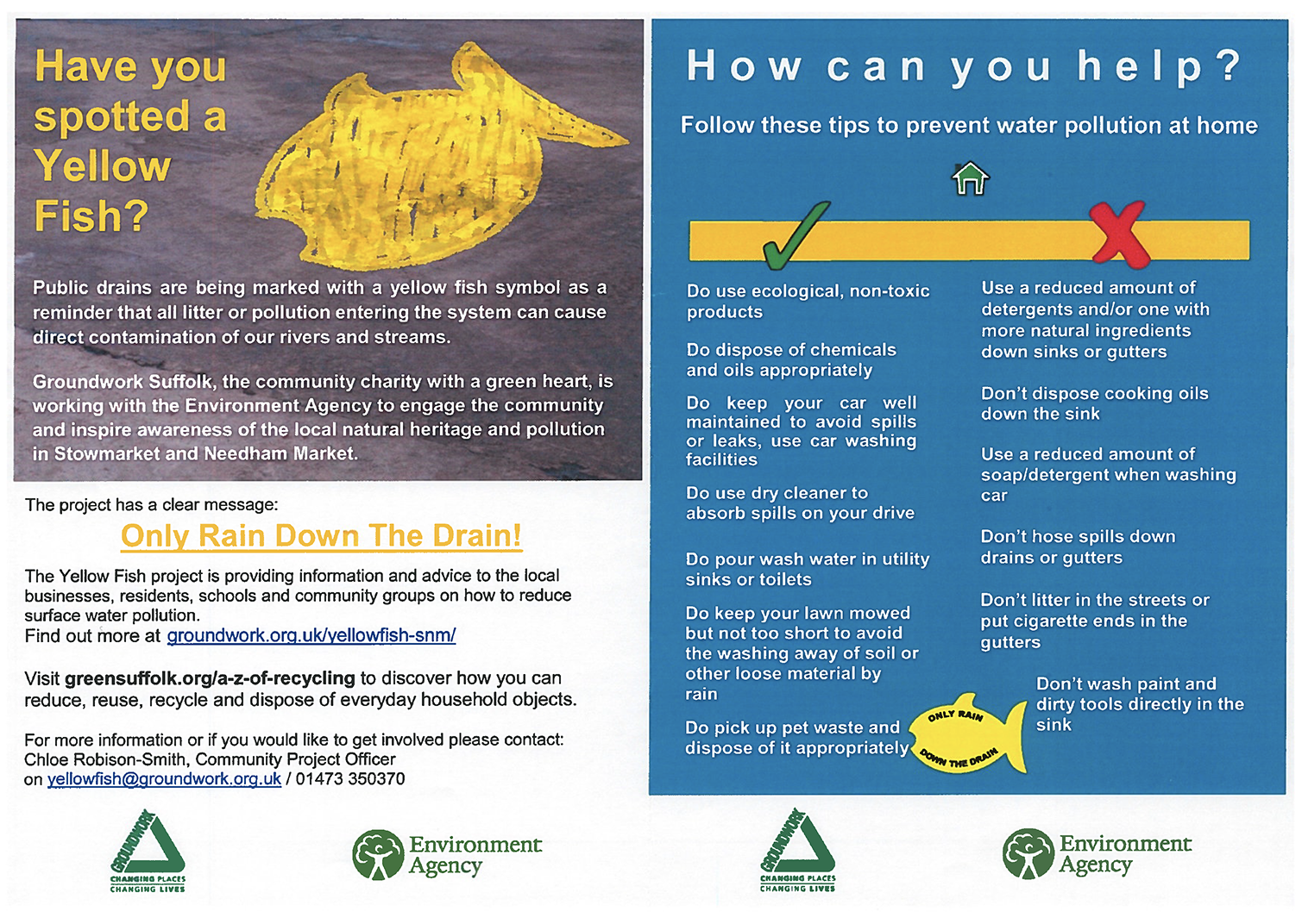 yellow fish leaflet